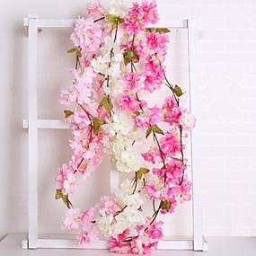 preiswerte Künstliche Blumen-Künstliche Blumen 1 Ast Hochzeit Europäisch Sakura Wand-Blumen