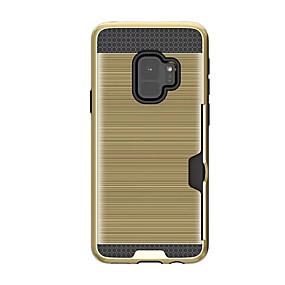 voordelige Galaxy S6 Edge Plus Hoesjes / covers-hoesje Voor Samsung Galaxy S9 / S9 Plus / S8 Plus Kaarthouder Achterkant Effen Hard Kumi