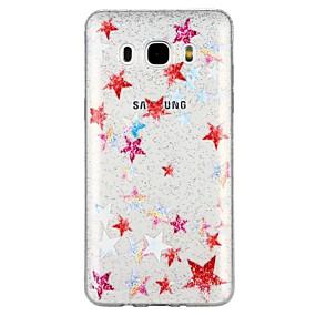 voordelige Galaxy J5(2017) Hoesjes / covers-hoesje Voor Samsung Galaxy J7 (2017) / J7 (2016) / J5 (2017) Doorzichtig / Patroon Achterkant Cartoon / Glitterglans Zacht TPU