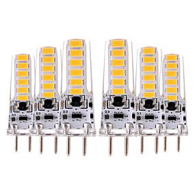 billige LED-lamper med G-sokkel-YWXLIGHT® 6stk 4 W LED-lamper med G-sokkel 300-400 lm GY6.35 T 12 LED Perler SMD 5730 Dekorativ Varm hvid Kold hvid 12-24 V 12 V