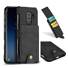 halpa Galaxy S -sarjan kotelot / kuoret-Etui Käyttötarkoitus Samsung Galaxy S9 Plus / S9 Korttikotelo / Iskunkestävä Takakuori Yhtenäinen Kova tekstiili varten S9 / S9 Plus / S8 Plus