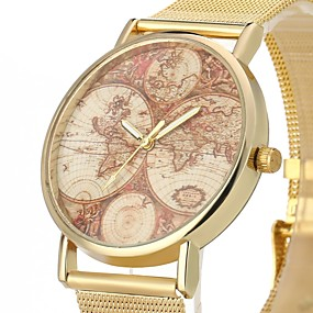 voordelige Merk Horloge-JUBAOLI Heren Vrijetijdshorloge Kwarts Goud Vrijetijdshorloge Cool Analoog Goud