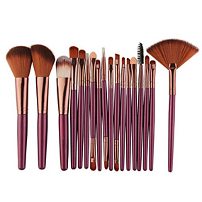 cheap Makeup & Nail Care-Professional Makeup Brushes Makeup Brush Set 18pcs Professional Plastic Makeup Brushes for Eyeliner Brush Blush Brush Lip Brush Makeup Brush Set