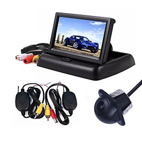 billige Til Bilen & Motorcyklen-ziqiao 3 i 1 trådløs parkering kamera skærm video system folding sammenklappelig bil skærm med bagside kamera trådløst kit