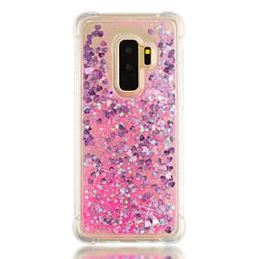 voordelige Galaxy S7 Hoesjes / covers-hoesje Voor Samsung Galaxy S9 / S9 Plus / S8 Plus Schokbestendig / Stromende vloeistof Achterkant Glitterglans Zacht TPU