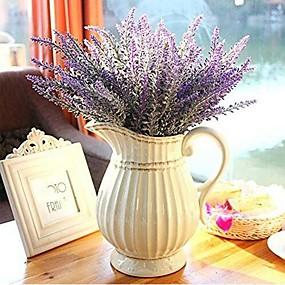preiswerte Künstliche Blumen-Künstliche Blumen 1 Ast Moderner Stil Lavendel Tisch-Blumen
