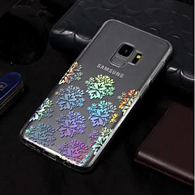 halpa Galaxy S -sarjan kotelot / kuoret-Etui Käyttötarkoitus Samsung Galaxy S9 Plus / S9 Pinnoitus / Kuvio Takakuori Lace Printing Pehmeä TPU varten S9 / S9 Plus / S8 Plus
