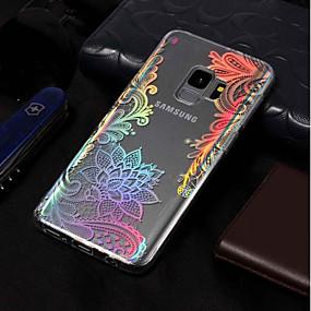 זול כיסויים לסדרת גלאקסי S-מגן עבור Samsung Galaxy S9 Plus / S9 ציפוי / תבנית כיסוי אחורי הדפסת תחרה רך TPU ל S9 / S9 Plus / S8 Plus