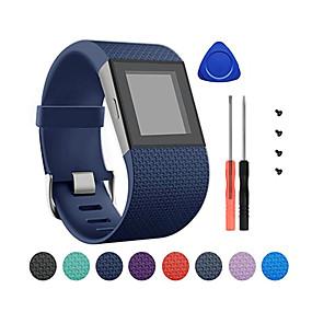 economico Cinturini per Fitbit-Cinturino per orologio  per Fitbit Surge Fitbit Chiusura classica Silicone Custodia con cinturino a strappo