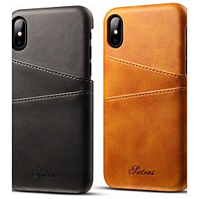 levne iPhone pouzdra-vormor pouzdro pro Apple iphone xr xs xs max držák karty zadní kryt pevné barevné tvrdé pu kůže pro iPhone x 8 8 plus 7 7plus 6s 6s plus se 5 5s