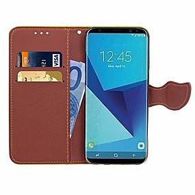 Недорогие Чехлы и кейсы для Galaxy S5 Mini-Кейс для Назначение SSamsung Galaxy S7 edge / S7 / S5 Mini Кошелек / Бумажник для карт / Стразы Чехол Однотонный Твердый Кожа PU