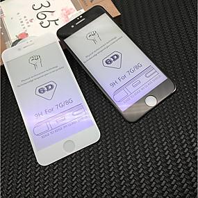 halpa iPhone 8 -suojakalvot-Näytönsuojat varten Apple iPhone 8 / iPhone 7 Karkaistu lasi 1 kpl Näytönsuoja 9H kovuus / Sinisen valon esto / 3D pyöristetty kulma