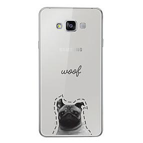 voordelige Galaxy A5(2016) Hoesjes / covers-hoesje Voor Samsung Galaxy A3 (2017) / A5 (2017) / A7 (2017) Patroon Achterkant Hond / Woord / tekst / Cartoon Zacht TPU