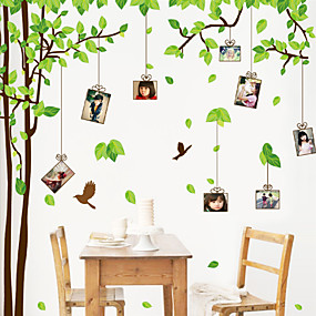 cheap Decoration Stickers-Decorative Wall Stickers - Plane Wall Stickers Floral / Botanical Living Room / Bedroom / Bathroom