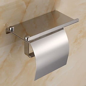 halpa Kylpyhuonetarvikkeet-Wc-paperiteline Uusi malli / Tyylikäs Nykyaikainen Ruostumaton teräs / rauta 1kpl Vessapaperitelineet Seinäasennus