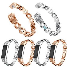 economico Cinturini per Fitbit-Cinturino per orologio  per Fitbit Alta HR / Fitbit Alta Fitbit Cinturino sportivo / Stile dei gioielli Acciaio inossidabile / Ceramica Custodia con cinturino a strappo