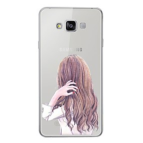 voordelige Galaxy A3(2016) Hoesjes / covers-hoesje Voor Samsung Galaxy A5 (2017) / A7 (2017) / A7(2016) Patroon Achterkant Sexy dame Zacht TPU