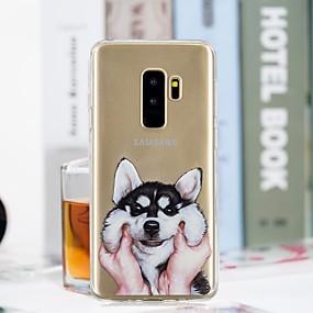 voordelige Galaxy S7 Hoesjes / covers-hoesje Voor Samsung Galaxy S9 / S9 Plus / S8 Plus Transparant / Patroon Achterkant Hond Zacht TPU