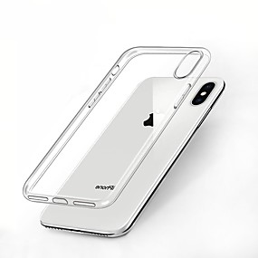 abordables Coques pour iPhone XR-étui carve pour apple iphone xr xs xs couverture de fond transparente anti-choc / transparente solide tpu coloré pour iphone x 8 8 plus 7 7plus 6s 6s plus se 5 5s