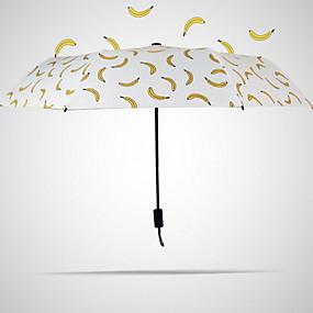Недорогие Защита от дождя-пластик Все Солнечный и дождливой Складные зонты