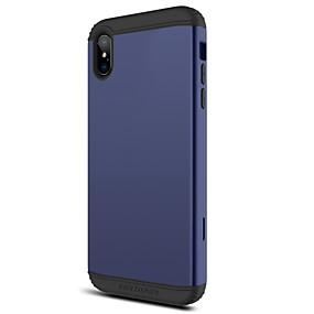 abordables Coques d'iPhone-BENTOBEN Coque Pour Apple iPhone XR / iPhone XS Max Antichoc Coque Intégrale Couleur Pleine Dur TPU / PC pour iPhone XR / iPhone XS Max