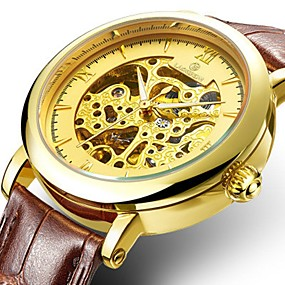 levne Mechanické hodinky-Pánské Dámské Hodinky k šatům Hodinky s lebkou  mechanické hodinky japonština Automatické 1467b3f1818