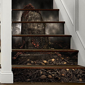 cheap Decoration Stickers-Floor Stickers - Plane Wall Stickers Halloween Decorations Indoor