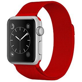 billiga Smycken & Klockor-Rostfritt stål Klockarmband Rem för Apple Watch Series 4/3/2/1 Röd / Brun / Grön 23cm / 9 Inches 2.1cm / 0.83 Specifikation