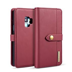 voordelige Galaxy S7 Hoesjes / covers-DG.MING hoesje Voor Samsung Galaxy S9 / S8 Portemonnee / Kaarthouder / met standaard Volledig hoesje Effen Hard PU-nahka voor S9 / S9 Plus / S8 Plus
