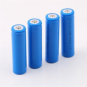 baratos Lanternas & Luminárias-18650.0 Bateria 5000 mAh 4pçs Recarregável para Campismo / Escursão / Espeleologismo