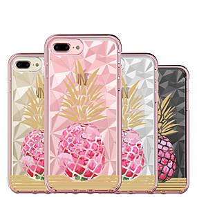 olcso iPhone tokok-BENTOBEN Case Kompatibilitás Apple iPhone 8 Plus / iPhone 7 Plus Ütésálló / Galvanizálás / Ultra-vékeny Héjtok Élelem / Gyümölcs / Virág Kemény Szilikon / PC mert iPhone 8 Plus / iPhone 7 Plus