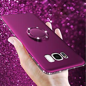 お買い得  Galaxy S シリーズ ケース/カバー-ケース 用途 Samsung Galaxy S9 Plus / S9 バンカーリング / 超薄型 / つや消し バックカバー ラインストーン ソフト TPU のために S9 / S9 Plus / S8 Plus