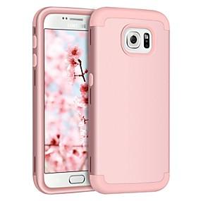 halpa Galaxy S -sarjan kotelot / kuoret-BENTOBEN Etui Käyttötarkoitus Samsung Galaxy S7 edge / S7 Iskunkestävä Suojakuori Yhtenäinen Kova Silikoni / PC varten S7 edge / S7 / S6