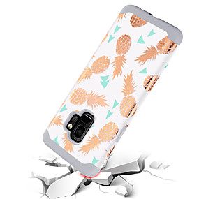 halpa Galaxy S -sarjan kotelot / kuoret-BENTOBEN Etui Käyttötarkoitus Samsung Galaxy S9 Iskunkestävä / Kuvio Takakuori Hedelmä Kova PC / silikageeli varten S9