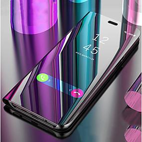 levne Galaxy S pouzdra / obaly-Carcasă Pro Samsung Galaxy S9 / S8 se stojánkem / Zrcadlo / Flip Celý kryt Jednobarevné Pevné PU kůže pro S9 / S9 Plus / S8 Plus