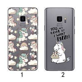 voordelige Galaxy S7 Hoesjes / covers-hoesje Voor Samsung Galaxy S9 / S9 Plus / S8 Plus Ultradun / Transparant Achterkant Flamingo Zacht TPU