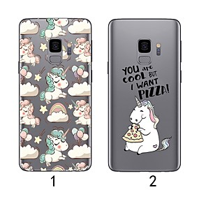 voordelige Galaxy S7 Edge Hoesjes / covers-hoesje Voor Samsung Galaxy S9 / S9 Plus / S8 Plus Ultradun / Transparant Achterkant Flamingo Zacht TPU