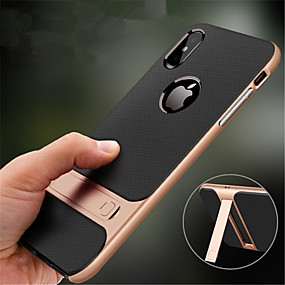 hesapli iPhone Kılıfları-Pouzdro Uyumluluk Apple iPhone XR / iPhone XS Max Satandlı Arka Kapak Solid Sert PC için iPhone XS / iPhone XR / iPhone XS Max