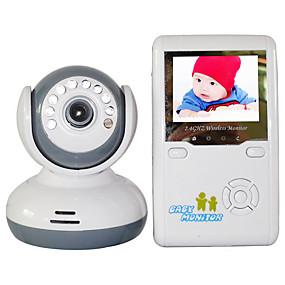 "billige Babyalarmer-baby monitor 9020d 380tvl 1/4 ""cmos 70 ° nattsynområde 2-3 m 2.4ghz 2.4"" tft lcd"