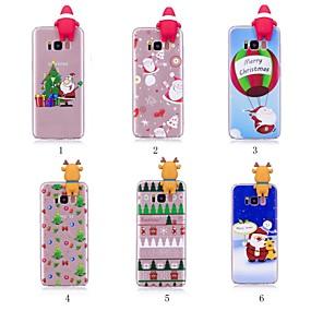 voordelige Galaxy S7 Hoesjes / covers-hoesje Voor Samsung Galaxy S9 / S9 Plus / S8 Plus Patroon / DHZ Achterkant Kerstmis Zacht TPU