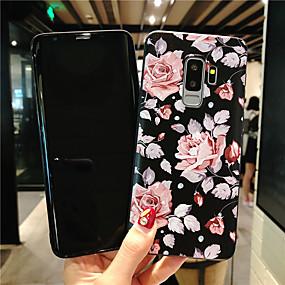halpa Galaxy S -sarjan kotelot / kuoret-Etui Käyttötarkoitus Samsung Galaxy S9 Plus / S9 Himmeä / Koristeltu / Kuvio Takakuori Kukka Pehmeä TPU varten S9 / S9 Plus / S8 Plus
