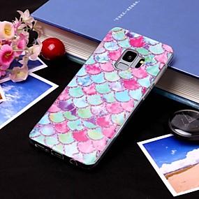 voordelige Galaxy S7 Edge Hoesjes / covers-hoesje Voor Samsung Galaxy S9 / S9 Plus / S8 Plus IMD / Doorzichtig Achterkant Lijnen / golven Zacht TPU