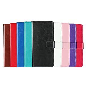 Недорогие Чехлы и кейсы для Galaxy S5 Mini-Кейс для Назначение SSamsung Galaxy S9 / S9 Plus / S8 Plus Бумажник для карт / со стендом / Флип Чехол Однотонный Твердый Кожа PU