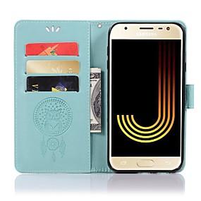 voordelige Galaxy J5 Hoesjes / covers-hoesje Voor Samsung Galaxy J8 (2018) / J7 / J6 (2018) Portemonnee / Kaarthouder / met standaard Volledig hoesje Uil Hard PU-nahka