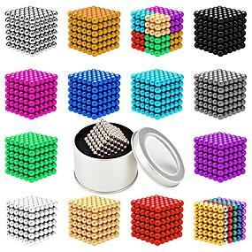 olcso Játékok & hobbi-216 pcs 5mm Mágneses játékok mágneses Balls Építőkockák Super Strong ritkaföldfémmágnes Neodímium mágnes Neodímium mágnes Mágneses Stressz és szorongás oldására Office Desk Toys Enyhíti ADD, ADHD, a