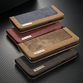 voordelige Galaxy S7 Edge Hoesjes / covers-hoesje Voor Samsung Galaxy S9 / S9 Plus / S8 Plus Portemonnee / Kaarthouder / met standaard Volledig hoesje Effen Hard tekstiili