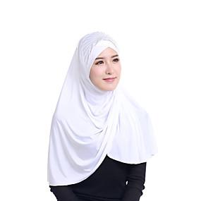 billige Tørklæder og sjaler-Dame Basale Hijab - Rayon Pailletter, Ensfarvet / Alle årstider