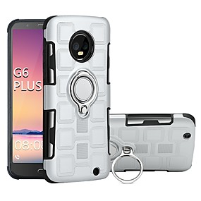 cheap Cool & Fashion Cases for iPhone-Case For Motorola MOTO G6 / Moto G6 Plus Shockproof / Ring Holder Back Cover Armor Hard PC for MOTO G6 / Moto G6 Plus / Moto G5s Plus