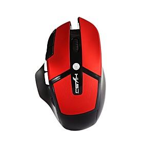 levne Myši & Klávesy-HXSJ A875 Bezdrátové zařízení 2.4G Gaming Mouse / Office Mouse LED světlo 2400 dpi 6 Nastavitelné úrovně DPI 6 pcs Klíče 4 programovatelná tlačítka