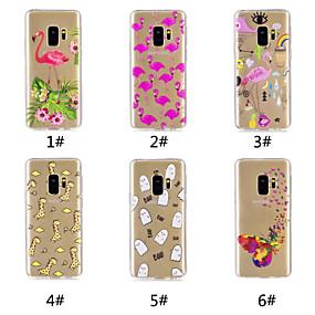 voordelige Galaxy S7 Hoesjes / covers-hoesje Voor Samsung Galaxy S9 / S9 Plus / S8 Plus Patroon Achterkant Vlinder / Flamingo / Cartoon Zacht TPU